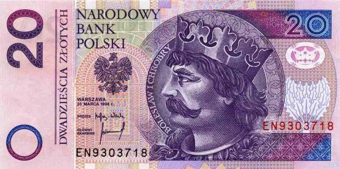 20 польских злотых