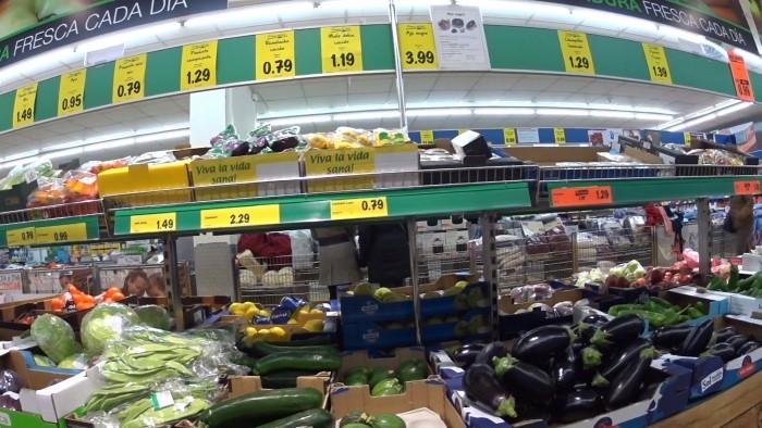 Супермаркет в Испании
