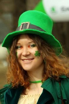 Ирландка на праздновании дня св. Патрика
