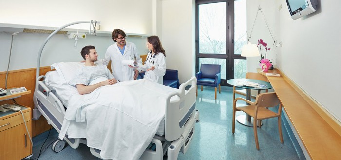 В больничной палате Италии