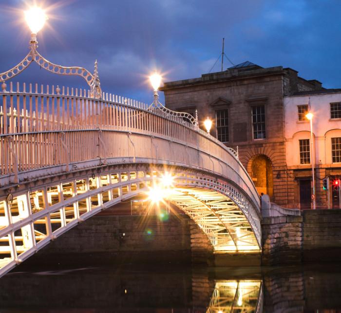 Вечер в ирландском городке