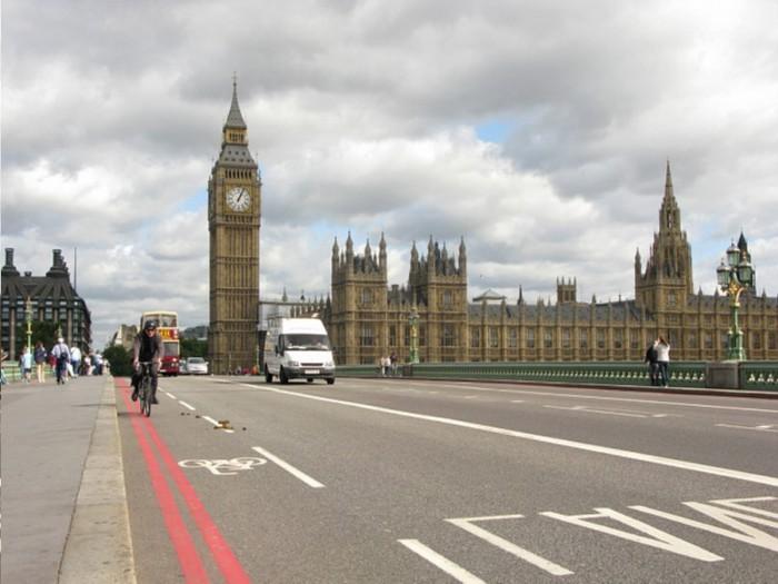 Лондон, вид на Вестминстерский дворец