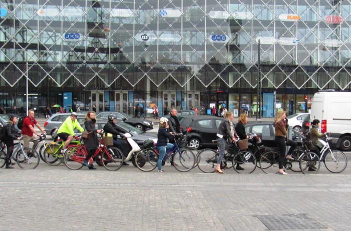 Пробки из велосипедистов