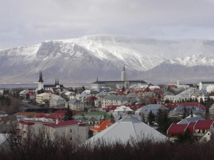 Городской пейзаж Исландии