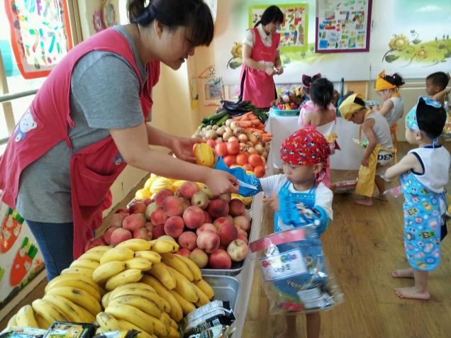 Организация обучения малышей покупкам на базаре