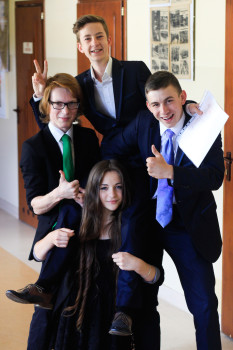 Подростки в польской гимназии
