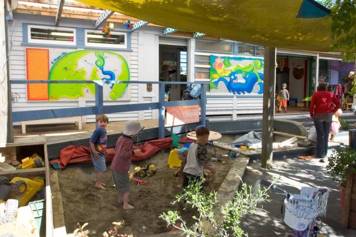 Игровая площадка новозеландского детского сада