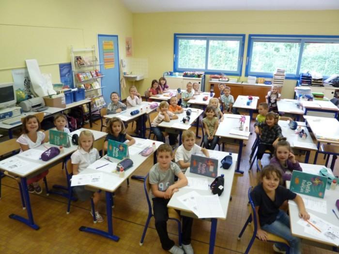 Класс в начальной школе Франции
