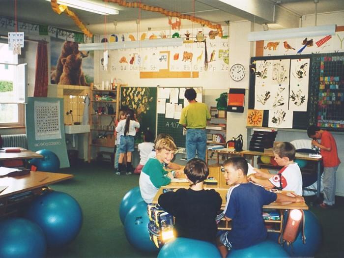 Класс в начальной школе Швейцарии