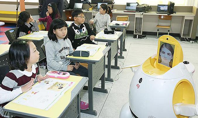 Корейские дети в классе