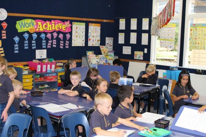 Один из уроков в новозеландской начальной школе