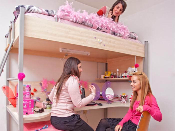 Комната женского студенческого общежития одного из вузов Кипра