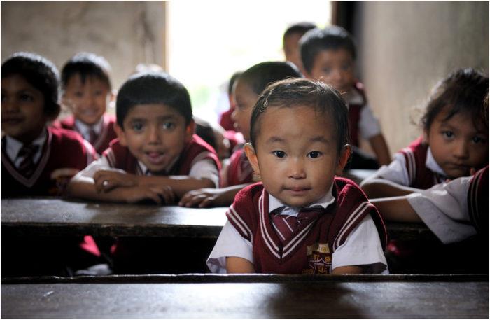 Младшие школьники в Индии