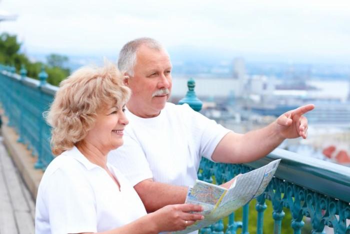 Американские пенсионеры-туристы