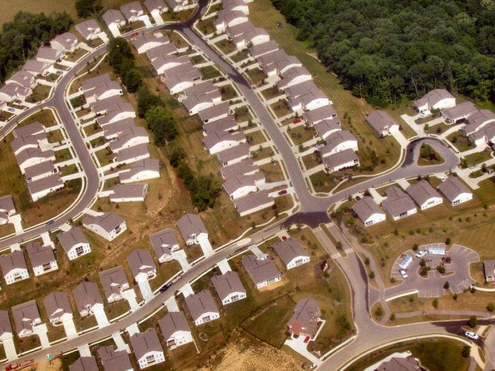 Пригородные зоны в США