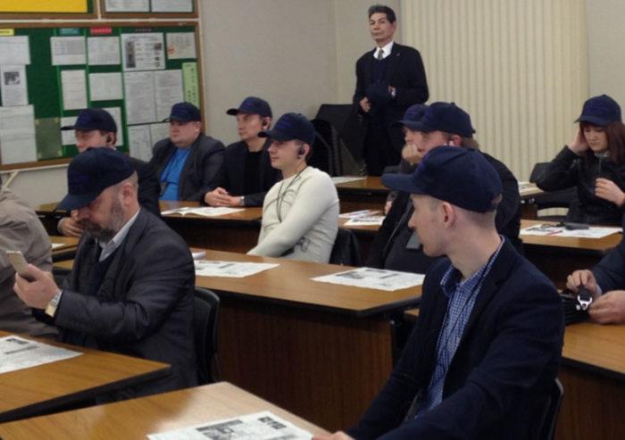 Лекция для стажёров из России в одном из центров логистики