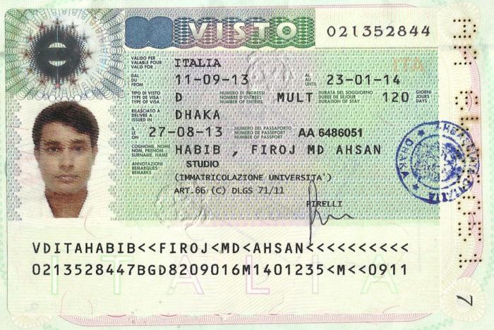 Национальная виза для обучения в Италии