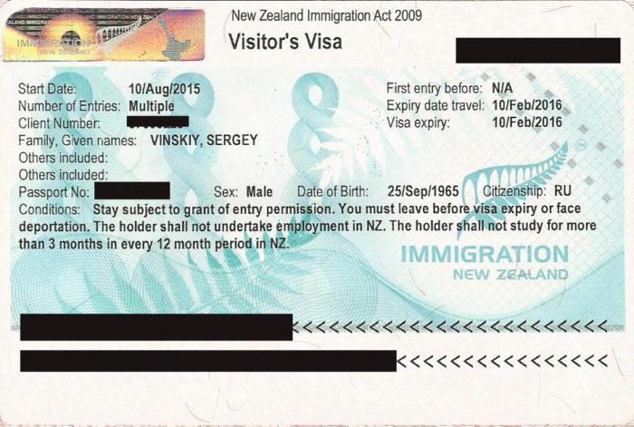Всё о том, как получить визу в Новую Зеландию самостоятельно