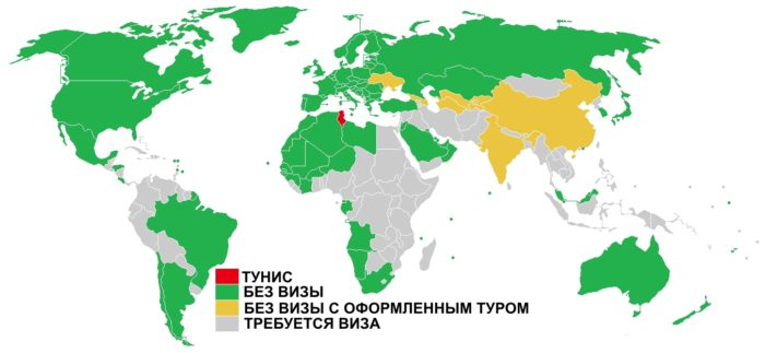 Информационная карта Туниса