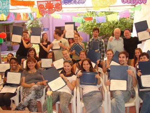 Студенты языковой школы в Мексике