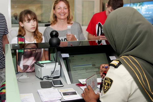 Паспортный контроль на Мальдивах