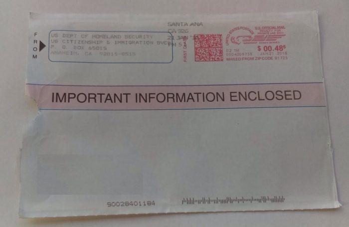 конверт уведомления о необходимости пройти биометрию