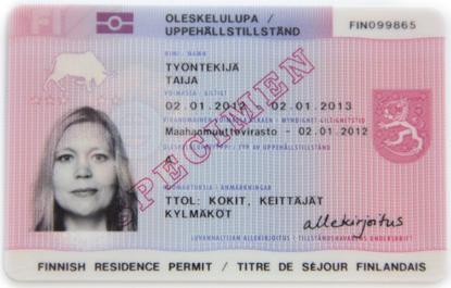 Финский вид на жительство