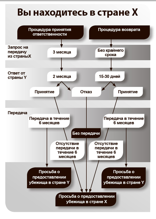 Схема реализации дублинской процедуры