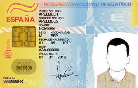 Национальное удостоверение личности в Испании