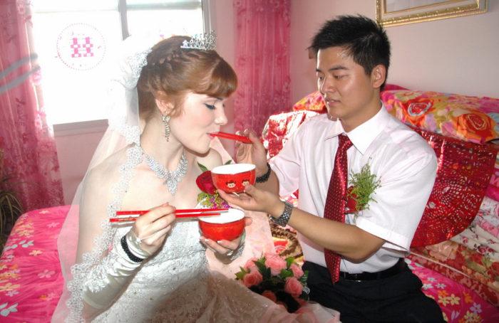 Свадьба китайца с иностранкой