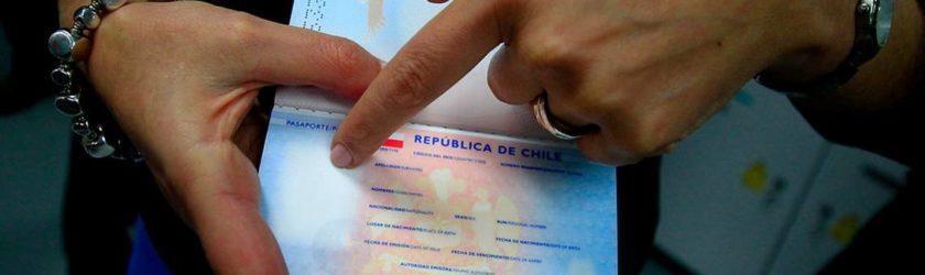 la bandera de pasaporte de chile