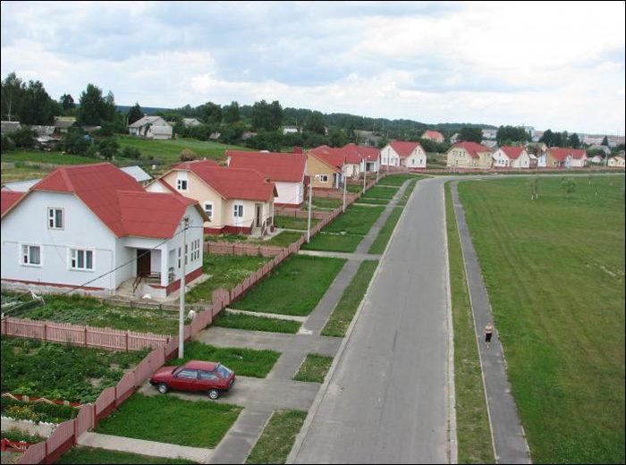Один из агрогородков Белоруссии