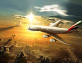 Самолёт над Дубаем