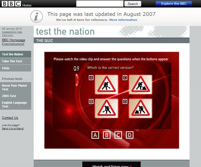 Testing the nation UK