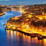 Вид на ночной Порту