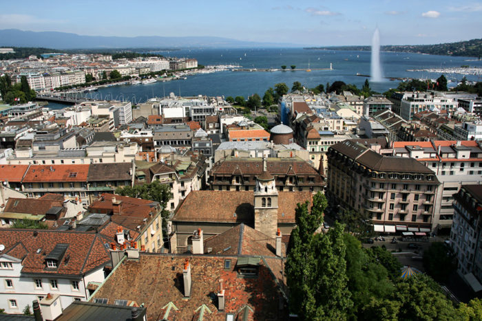 Женева, столица Швейцарии