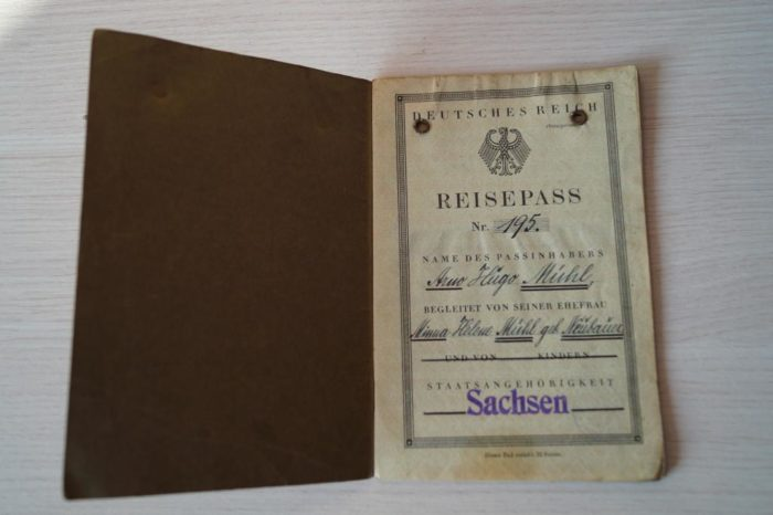 Старый паспорт Германии