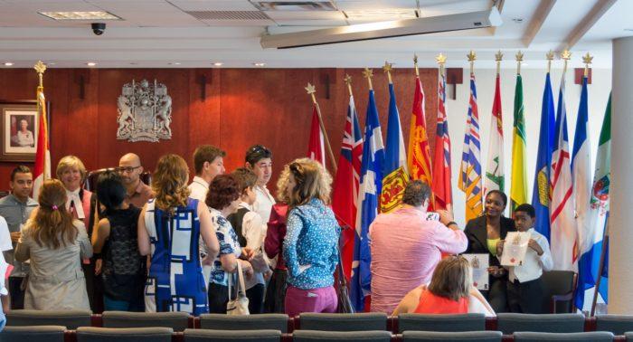 Церемония вступления в канадское гражданство