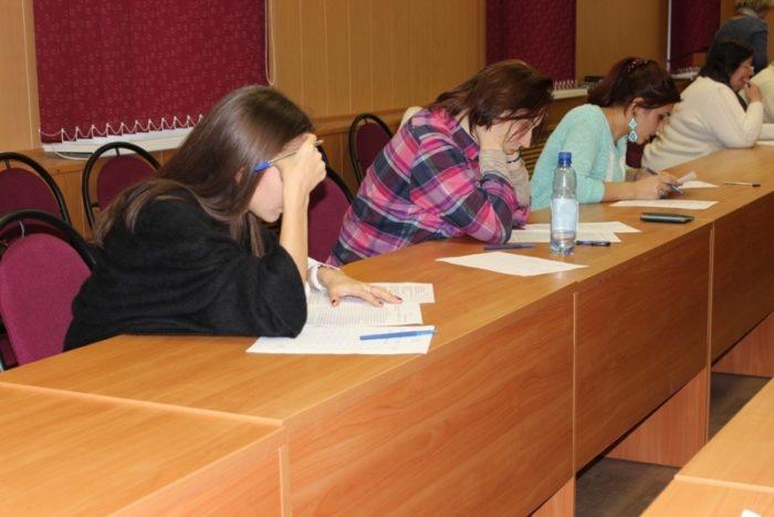 Сдача экзамена по русскому языку