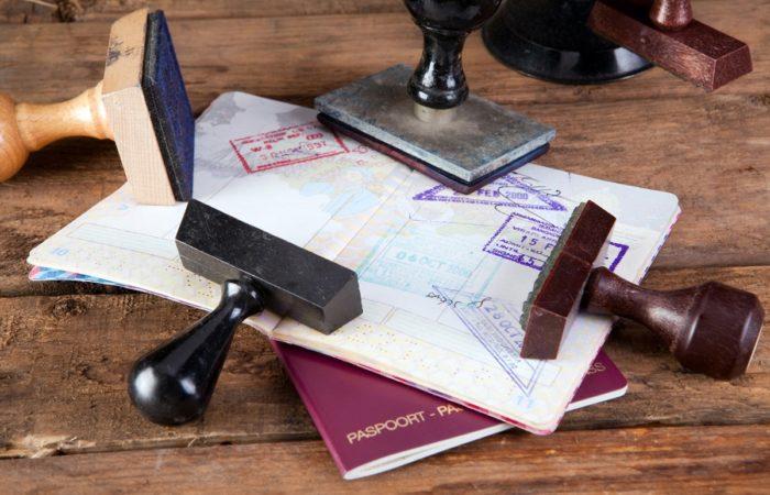 Паспорт и штампы для виз