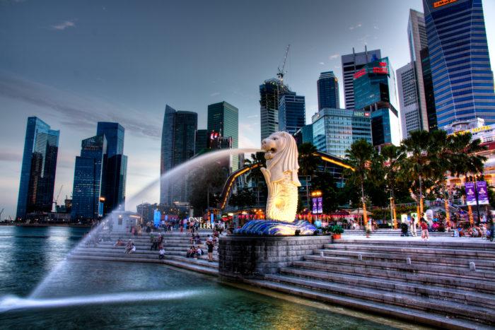 Фонтан в Сингапуре