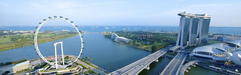 Вид сверху на Сингапур