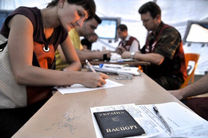 Заполнение документов в отделении МВД