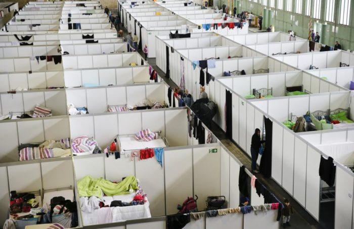 Центр размещения беженцев в Германии