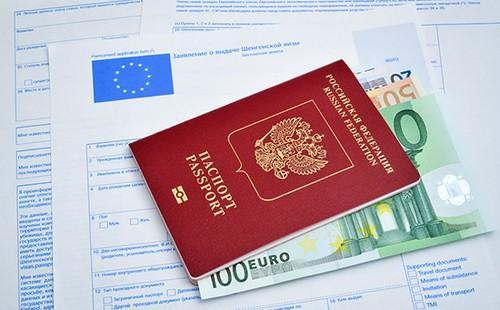 Документы на получение визы и евро