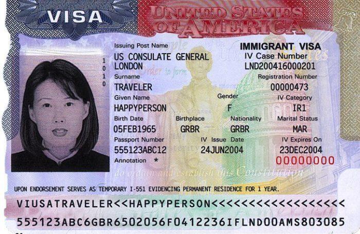 Иммиграционная виза США