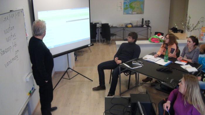 Слушатели языковых курсов в Эстонии