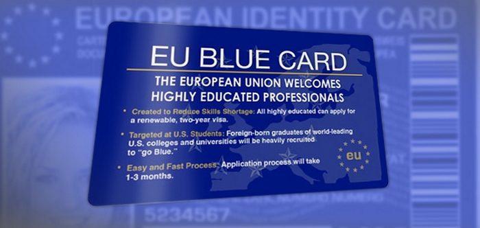 Визитка программы «Голубая карта ЕС»