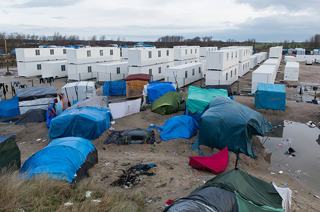 Лагерь беженцев в Кале, Франция