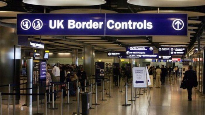 Пограничный контроль в Англии